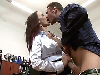 Cindy Buck Gets Her Big Tits And Hot Twat Banged At The Office
