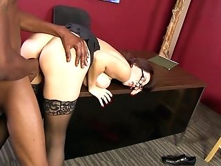 Matures Assistant Charlee Chase Is Having Dirty Quickie With Hot Blooded Big Black Cock
