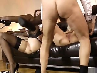 Classy Nubile Shares Oldmans Meatpipe With Cougar