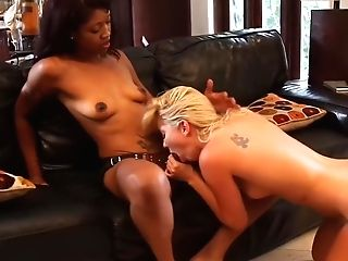 Aaliyah Love Fucked By Lotus Lain's Strap On