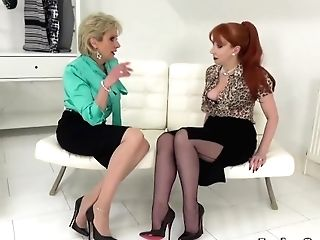 Lady Sonia And Crimson Taunting And Training You How To Wank