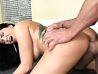 Lengthy Haired Caucasian Mummy Romi Rain Gets Her Moist Cootchie Fucked Missionary