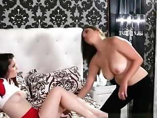 Sapphic Stepdaughter Teenage Stunner Sixtynines With Chesty Cougar
