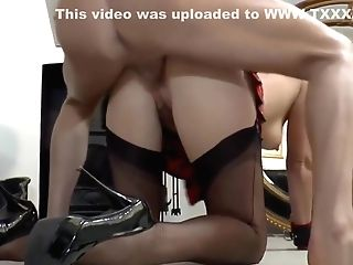 Stockings Mummy Corded And Ball-gagged During Rectal