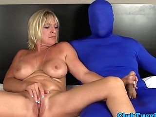 Bigtitted Mummy Tugging Gimps Pulsating Dick