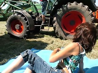 Tractor Driver Fucks Hump-greedy Milkmaid Frosya Right In The Filed