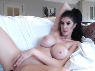 Big-boobed Brown-haired Women With Faux Tits And Faux-cock