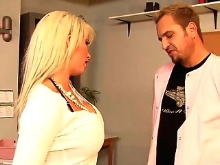 Lewd Buxomy Blonde Mummy Brooke Haven Serves Her Muff For Horny Doc