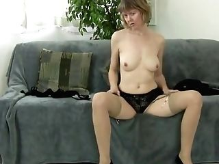 Matures Bitch Undressing Down And Masturbate