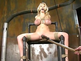 Sadism & Masochism Blonde Spanked And Fucked In Auto Repair Shop