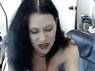 Hot Dark-haired Stunner Gets Her Cock-squeezing