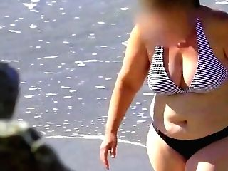 Spy Beach Matures With A Granny Swimsuit Bathing Suit Special