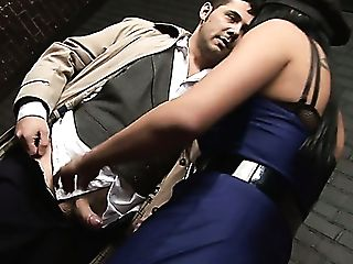 Clothed Like A Truly Tempting Cop Stunner Josephine Gets Poked From Behind