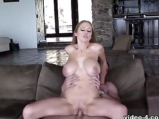 Abbey Lane & Trent Tesoro In Big Titted Platinum-blonde Antsy To Display Her Sexual Talents - Bestgonzo