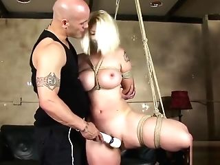 Buxomy Blonde Newcomer Tied And Fucked Hard Two