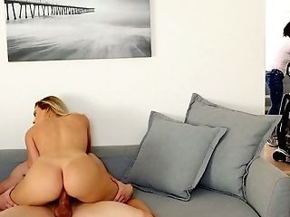 Always Bang-out-starved Chick Aubrey Sinclair Fucks Her Step Step-brother Under Stepmom's Nose