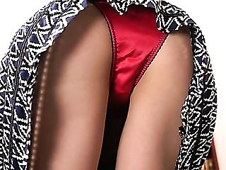 Lengthy Legged Leah Is Ready To Flash Her Crimson Undies And Nice Backside