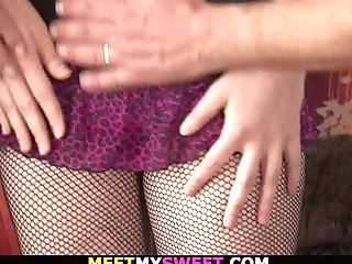 He Finds His Teenager Gf Fucking With Old Parents